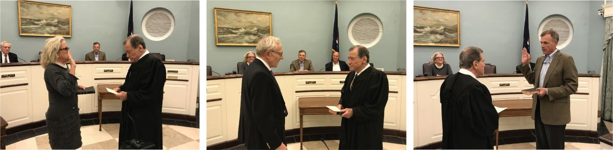2019 Swearing In of Mayor and Trustees