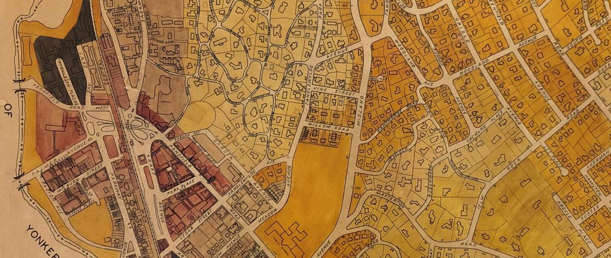 Bronxville Historic Zoning Map Detail